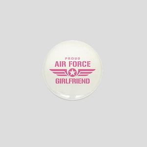 Proud Air Force Girlfriend W [pink] Mini Button